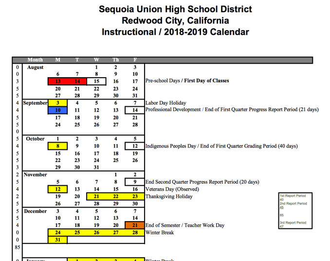 Sequoia union high school district icon of calendar pronofoot35fo Gallery